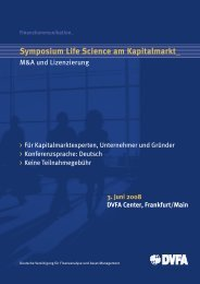 Symposium Life Science am Kapitalmarkt - DVFA