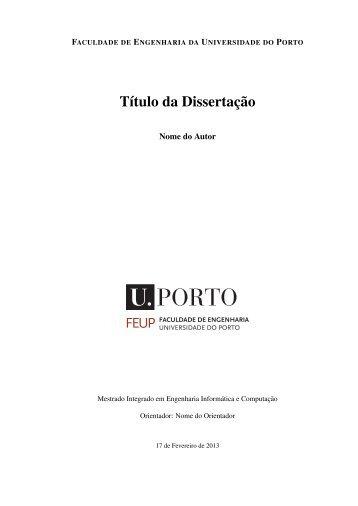Título da Dissertação