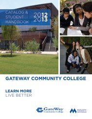 academic calendar 2012-2013 - GateWay Community College