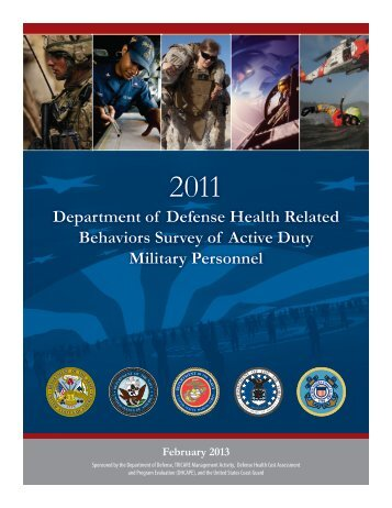 2011 Health Related Behaviors Survey of Active Duty Military ...
