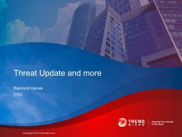 Threat Update and more