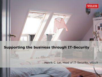 Supporting the business through IT-Security
