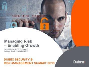 Managing Risk – Enabling Growth