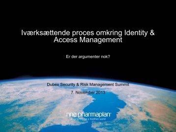Iværksættende proces omkring Identity & Access Management