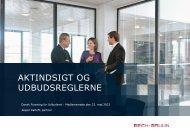 aktindsigt og udbudsreglerne - Dansk Forening for Udbudsret
