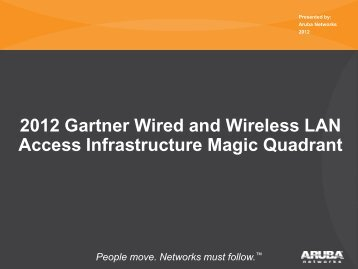 2012 Gartner Wired and Wireless LAN Access Infrastructure Magic Quadrant