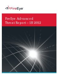 FireEye Advanced Threat Report – 1H 2012