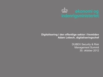 Digitalisering i den offentlige sektor i fremtiden Adam ... - Dubex