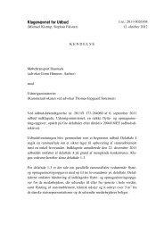 Møbeltranspartfirmaet Danmark A/S mod Udenrigsministeriet