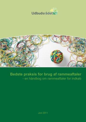 """""""Bedste praksis for brug af rammeaftaler - en håndbog om ..."""