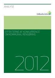 Analysen af effekterne af konkurrence om kommunal rengøring