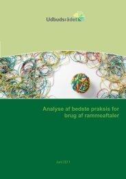 Analyse af bedste praksis for brug af rammeaftaler