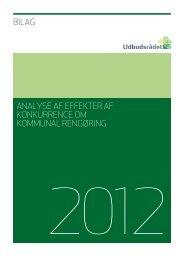 Bilag til analysen af effekterne af konkurrence om kommunal rengøring