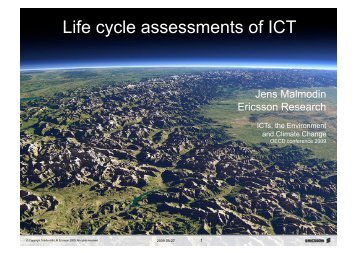 Life cycle assessments of ICT