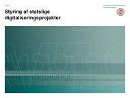 Styring af statslige digitaliseringsprojekter