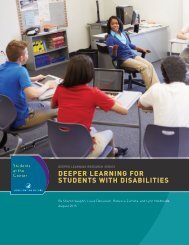 DEEPER LEARNING FOR STUDENTS WITH DISABILITIES