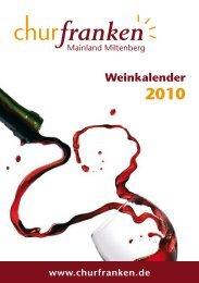 Weinkalender 2010 - Churfranken