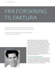 FRA FORSKNING TIL FAKTURA
