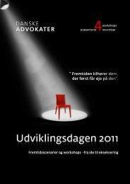 Program for Udviklingsdagen 4 super inspirerende workshops de 4 workshops