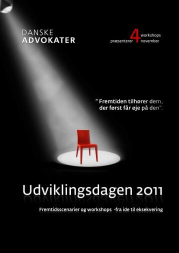 Program for Udviklingsdagen 4 super inspirerende workshops de 4 workshops