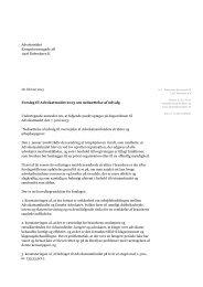 Advokatrådet Kronprinsessegade 28 1306 København K Forslag til ...