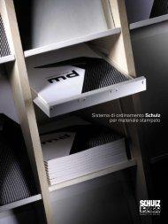 Sistema di ordinamento Schulz per materiale stampato
