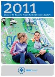 Jahresbericht - Deutscher Kinderschutzbund Bundesverband e.V.