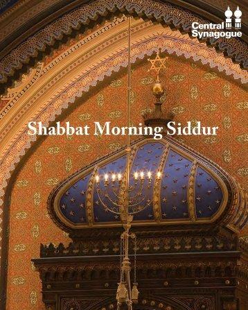 Shabbat Morning Siddur
