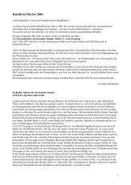 Rundbrief Herbst 2006 - Elterninitiative herzkranker Kinder, Köln eV