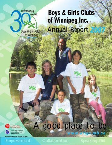 A good place to be - Winnipeg Boys and Girls Clubs
