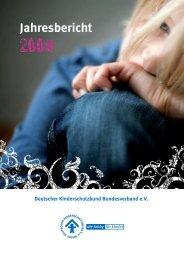 Jahresbericht 2009 - Deutscher Kinderschutzbund