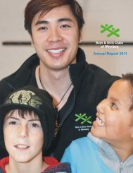 Annual Report 2011 - Winnipeg Boys and Girls Clubs