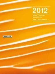 Wacker Chemie AG – Annual Report 2012