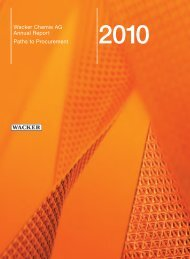 downloadable - Wacker Chemie AG - Annual Report 2012