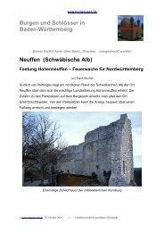Neuffen (Schwäbische Alb) Festung Hohenneuffen - Burgen-Web.de