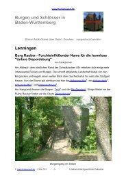 Lenningen Burg Rauber - Burgen-Web.de