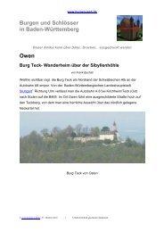 Owen Burg Teck- Wanderheim über der ... - Burgen-Web.de