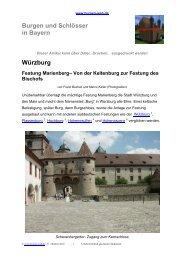 Würzburg Festung Marienberg– Von der ... - Burgen-Web.de