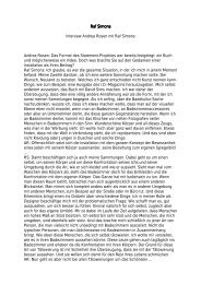 Raf Simons Raf Simons Interview Andrea Rosen mit Raf Simons ...