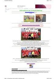 FC Fraunberg Informationen der Fussball Abteilung