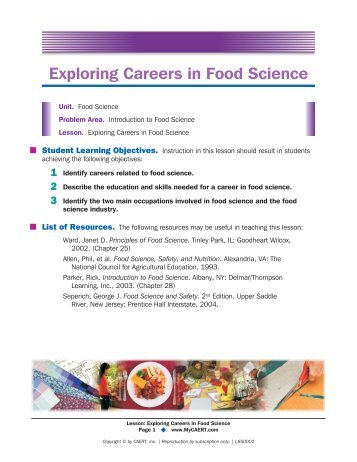 Food Science Careers