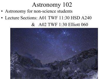Astronomy 102