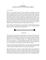 1 CHAPTER 6 MAGNETIC EFFECT OF AN ELECTRIC CURRENT ...
