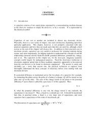 1 CHAPTER 5 CAPACITORS 5.1 Introduction A capacitor consists of ...