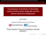 Markov and Consensus Processes