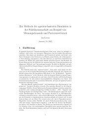Zur Methode der agenten-basierten Simulation in der ... - Jan Lorenz