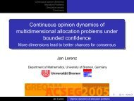 multidimensional allocation problems under bounded confidence