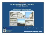 Transitional Dynamics in Pyroclastic Density Currents