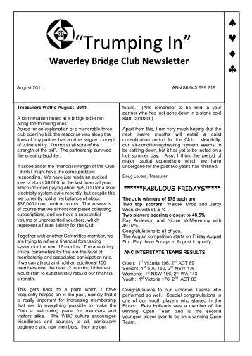Robins Duplicate Bridge Club Bridge Score