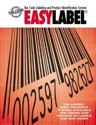 Bar Code Labeling and Product Identification System
